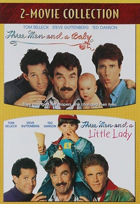 Three Men and a Baby / Three Men and a Little Lady (DVD / 2 DISC) Tom Selleck, Steve Guttenberg, Ted Danson, Nancy Travis, Robin Weisman