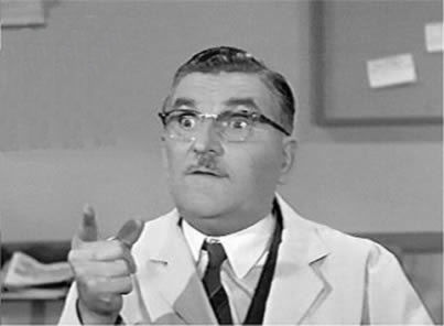 """Howard McNear as """"Floyd the Barber,"""" (1960-67) was a very funny, regular character actor and played his part well on the Andy Griffith TV show."""