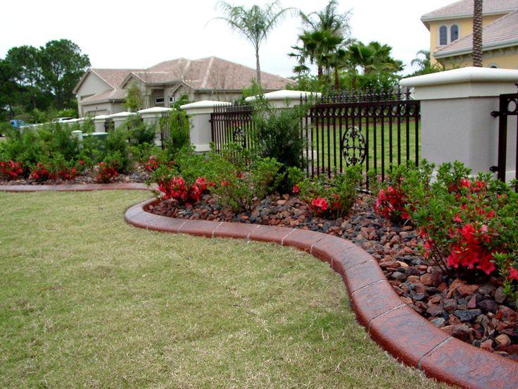 Diy landscape curbing ideas for Garden design yourself