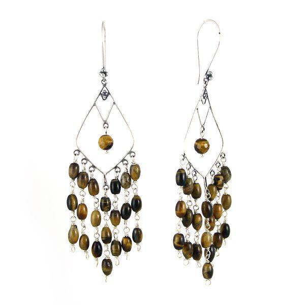 Long, orient-inspired earrings.