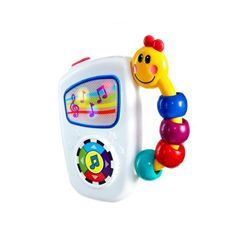 7 baby friendly classical melodies Volume Control The colorful and easy to grasp Caterpillar handle ensures that baby can take along tunes anywhere Off, Low and High volume switch Promotes auditory development and music appreciation Award-Winning Bestseller Large button toggles through 7 high quality classical melodies Colorful lights dance across the screen to each song Caterpillar bead chaser handle is easy for little hands to hold and take anywhere Great for On-the-Go Easy Grasp