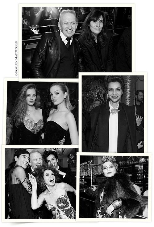 After a Couture Spring/Summer 2016 show that revived the Palace years, Jean Paul Gaultier invited a happy few for dinner at Le Grand Colbert, a night marked by performances from Beth Ditto and Allanah Starr. Attendees included Vogue's Emmanuelle Alt, Daphne Groeneveld, Victoria Abril and Farida Khelfa with Romain Mayoussier capturing the fashionable crowd.