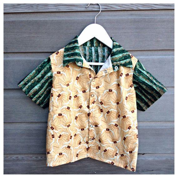 Boys cowboy bowling shirt / hipster shirt / door LittleFieldBirch