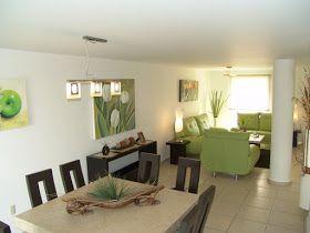 Sala comedor verde chocolate beige decoraciones de salas for Decoracion sala y comedor juntos