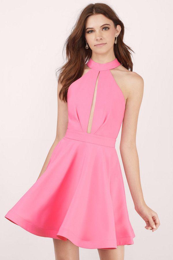 Midnight Lover Halter Skater Dress at Tobi.com #shoptobi