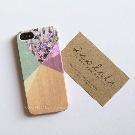 iPhone 6 Floral geometrische auf Holz iPhone 5 s von IsolateCase