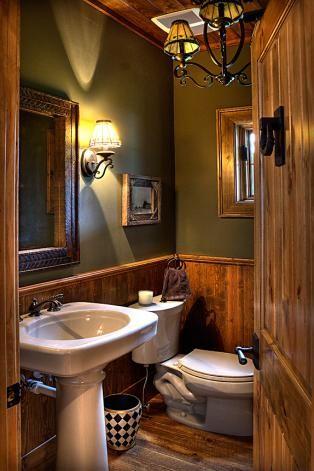 Rustic Bathroom Beautiful Light Fixtures