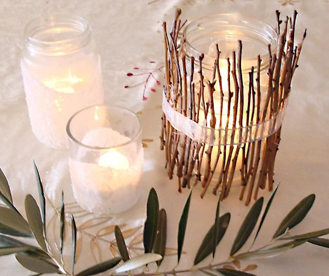 Super Simple #DIY Twig Luminary : DIY Wood Crafts Recycle