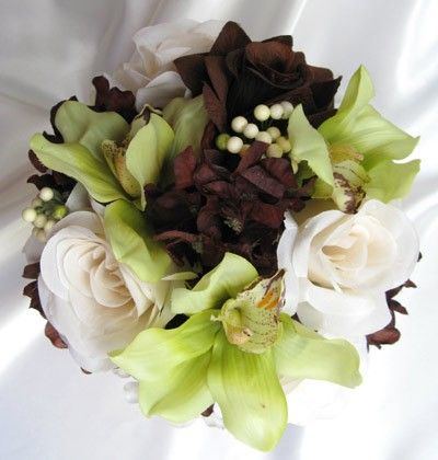 loooove green and brown for my wedding