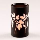 Porcelain Oil Burner (Charcoal) - Leaf