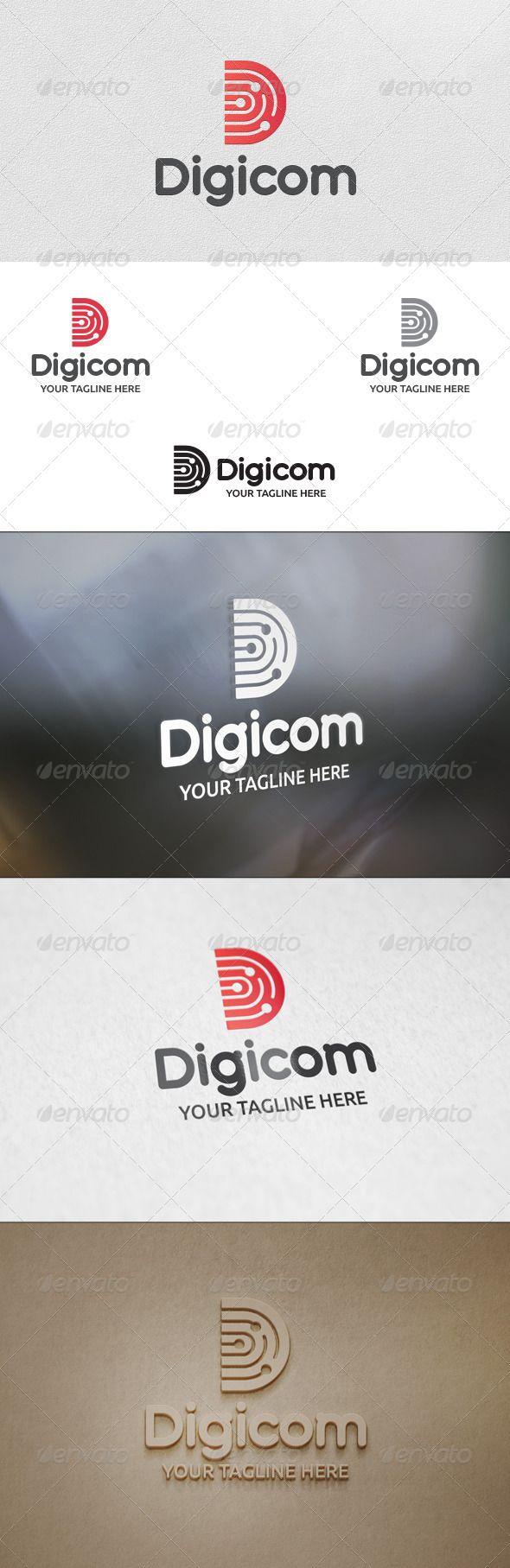 Digicom (Letter D) - Logo Template