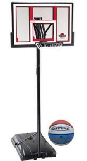 Basketball System 48 Shatterproof Portable One Hand Height Adjustable