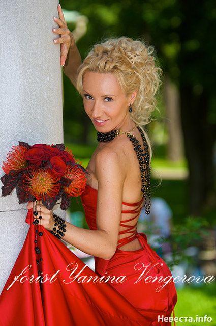 красно-черный букет для экстравагантной невесты
