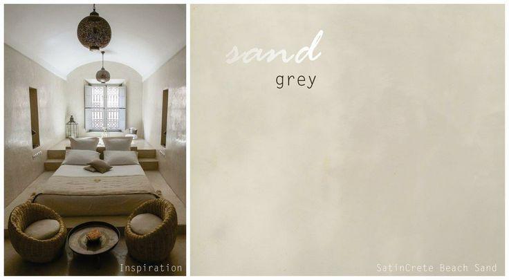 #10 Sand grey - create an elegant, warm suede wall finish