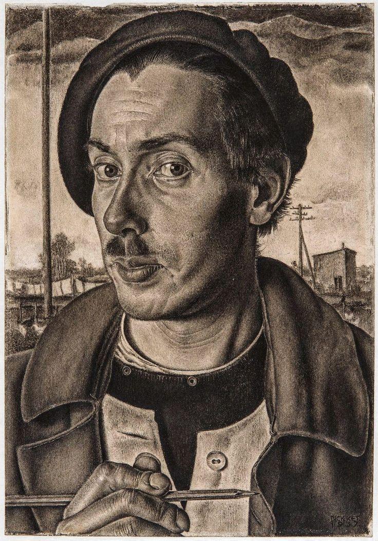 De schilder en tekenaar Dick Ket (1902-1940) overleed al op zijn 37ste en kwam de laatste tien jaar van zijn korte leven nauwelijks nog buiten. Dat had te maken met een aangeboren hartafwijking, waar in die latere jaren nog straatvrees en angst voor vreemden bij kwamen