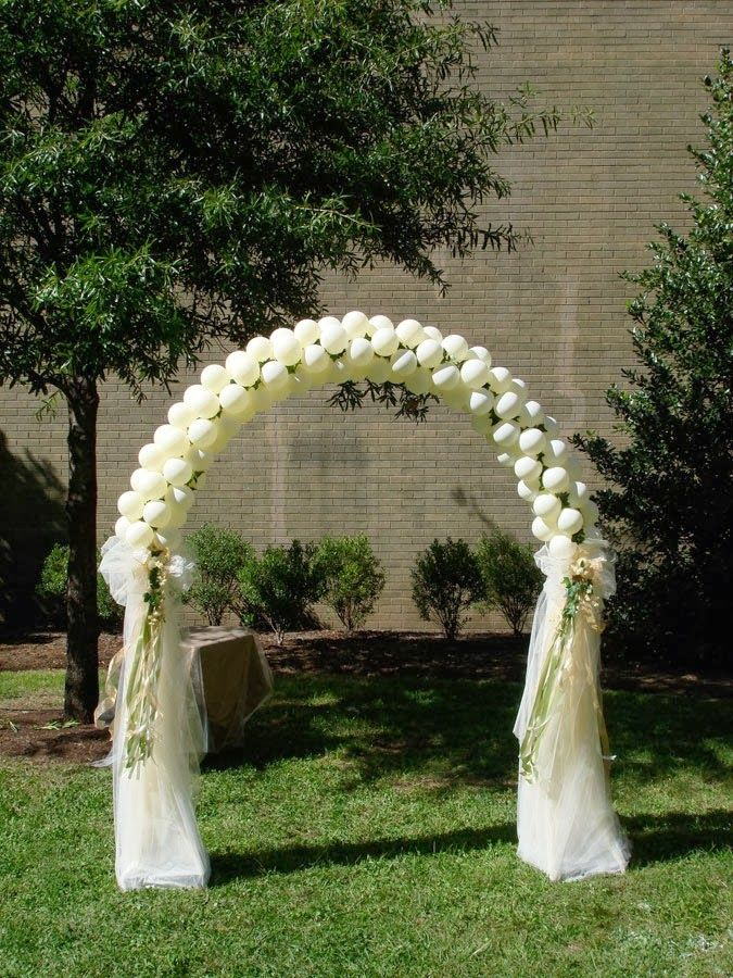 M s de 25 ideas incre bles sobre cortinas de globos en for Arreglos con globos para boda en jardin