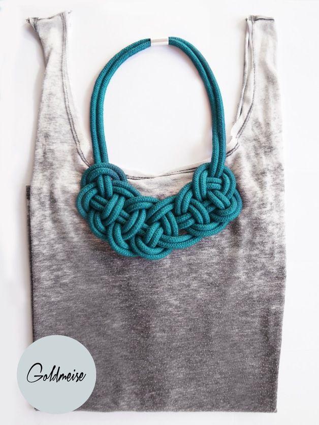 Statement Ketten - Statement-Kette 'Tavira', handgefärbtes Seil - ein Designerstück von Goldmeise bei DaWanda