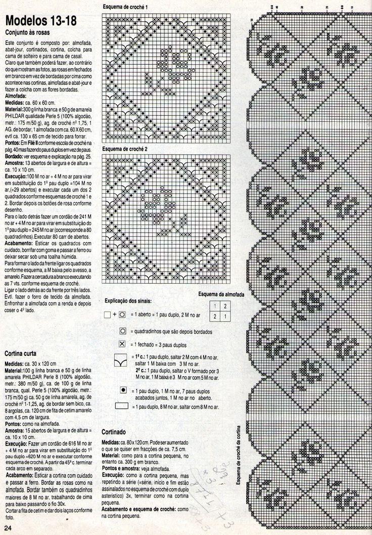 REGINA RECEITAS DE CROCHE E AFINS: cortina e colcha rosinhas.                                                                                                                                                                                 Mais