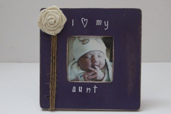 Aunt Picture Frame Purple Photo Frame Favorite by MyRusticPlace