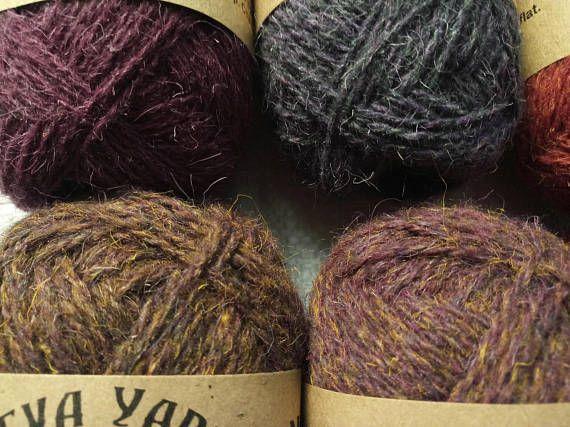 NEVA YARN Set 6x50g 100% WOOL Natural Yarn. Great for knitting