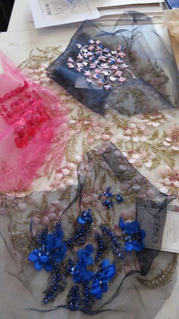 This embroidery appeared on the Dior Gown that was chosen as the 'Dress of the Year 2012' at the Bath Fashion Museum. © Sonia Kolesnikov-Jessop ~artist.