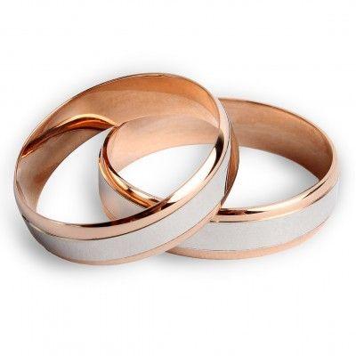 """Обручальное кольцо из красного и белого золота """"Дорога счастья"""". Коллекция """"Ценности"""" …символизирует соединение жизненных путей влюбленных в одну счастливую дорогу… Современное кольцо из комбинированного белого и красного золота 585 пробы плоской формы. Ширина шинки – 5 мм  Минимальный вес – 1,80 г, максимальный вес – 2,90 г (в зависимости от размера). Вес: 1.80-2.90 Проба: 585 Материал: золото Цвет золота: красно-белое 1439.00 грн В наличии"""