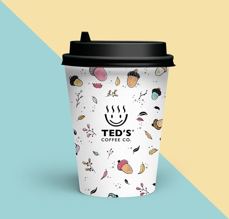 Autumn illustration for a limited edition coffee cups for Ted's Coffee Co.