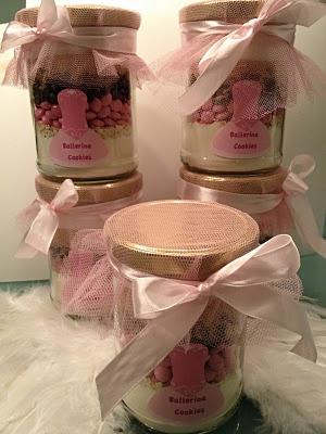 Ballerina Cookies in a Jar
