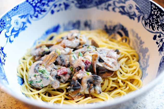 Pasta with Bacon and Mushrooms   Recipe