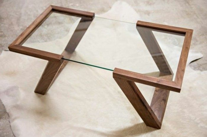 Best 25 table basse verre et bois ideas on pinterest tables basses en verr - Table basse en verre ikea ...