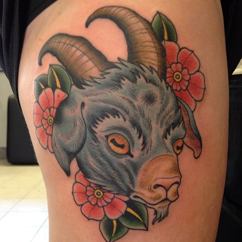 1000 images about goat tattoos on pinterest horns nyc and body art tattoos. Black Bedroom Furniture Sets. Home Design Ideas