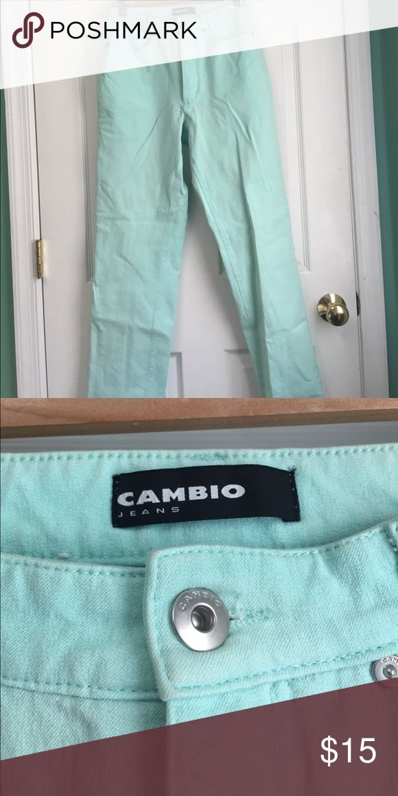 New Cambio Jeans Light Teal Straight Leg Jeans Light teal size 8. Straight leg Denim Jeans. K Cambio Jeans Jeans Straight Leg