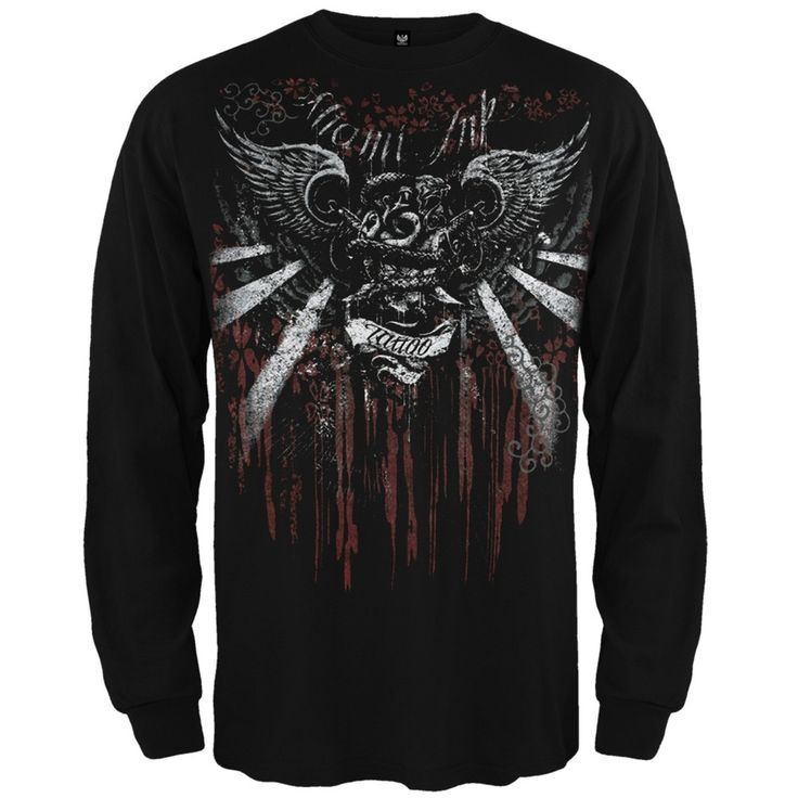 Miami Ink - Stretchy Blossom Long Sleeve T-Shirt