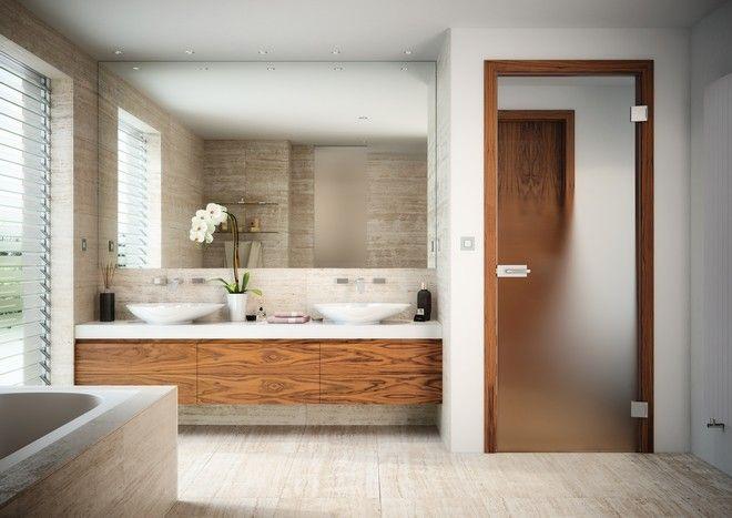Celoskleněné dveře Sapeli - SAPGLASS dveře do koupelny