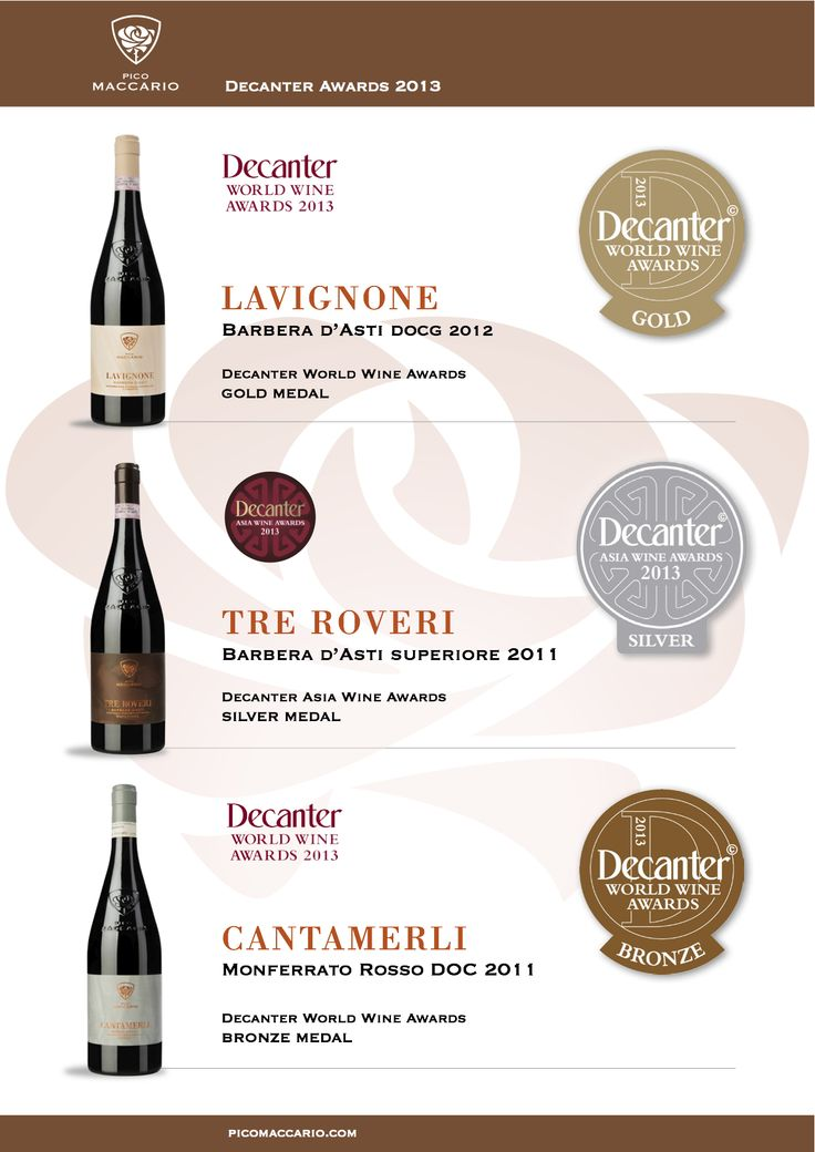 #decanter #World #Wine #Awards 2013 #picomaccario #wines #winelovers