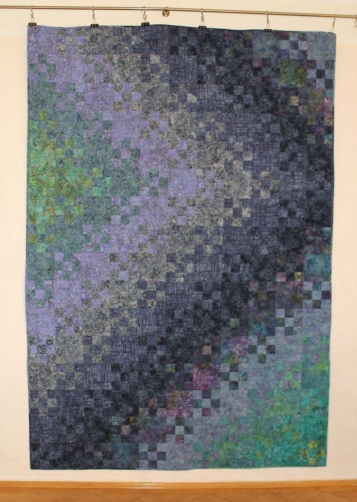 (2015) Blooming 9patch 160 x 232 cm - Batik Quilt