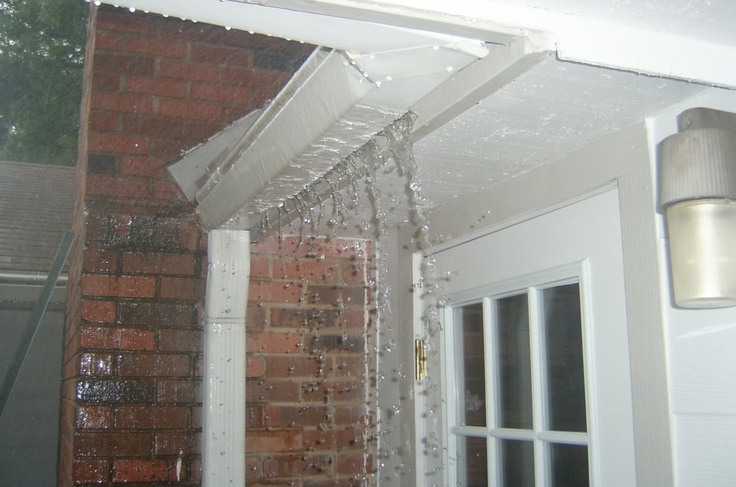 fix a leaking gutter leaking gutters again the gutter leaks over a front door of house is the. Black Bedroom Furniture Sets. Home Design Ideas