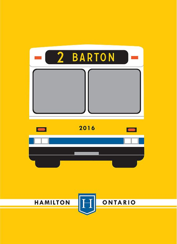Our Hamilton Transit Bus Route prints feature over 30 local bus routes paying tribute to the iconic Hamilton Street Railway (HSR).  These frame-ready maps are digitally printed on bright, white paper. They are sized at 11x14 allowing framing and finishing to suit your décor.  All of our digital prints are produced in Hamilton, Ontario. You can see and purchase them in person at our shop located at 154 James St. North.