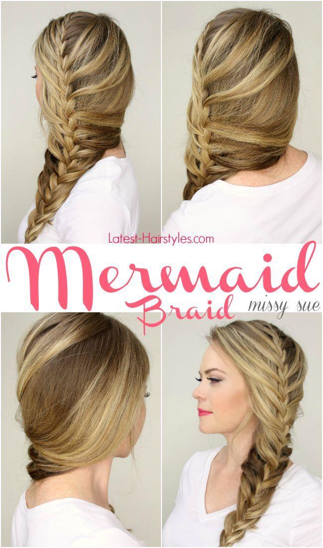 Peachy 1000 Ideas About Mermaid Braid Tutorials On Pinterest Waterfall Short Hairstyles For Black Women Fulllsitofus