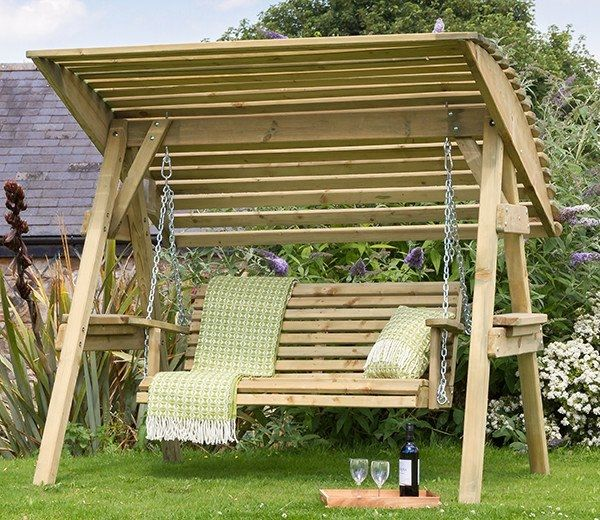 The Miami Swing is a striking design from Zest 4 Leisure, just the place to relax in the heat of the day. Its contemporary style and comfortable nature with a wooden canopy and chains make it a beautiful piece of garden furniture. Dimensions: Width 1.89m, Depth 1.62m, Height 1.80m.