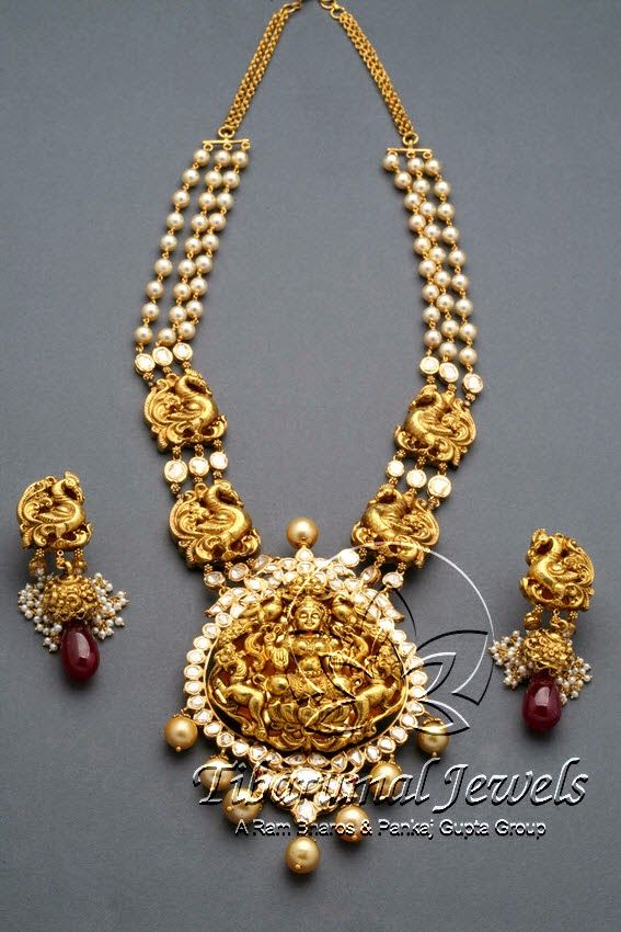 Indian Jewellery and Clothing: Divine temple jewellery from Tibarumal Jewellers