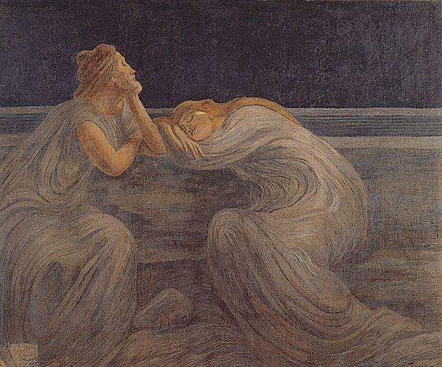 Gaetano Previati,  Notturno, 1894