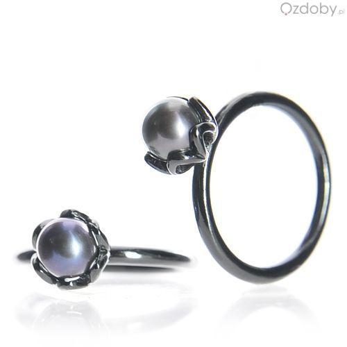 Srebrny pierścionek  z kuleczką