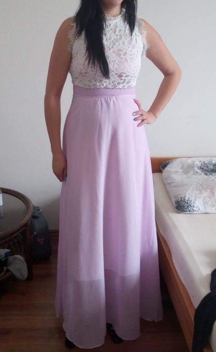 a36b6e3a75 Cute Prom Dresse Ellisia White Lace Chiffon Skirt Long Maxi Dress –  Glamanti Beauty