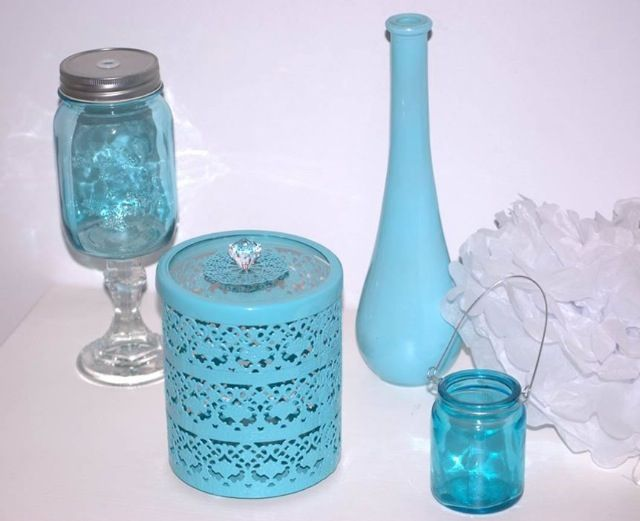 Tiffany blue coloured props available to hire for your next party theme @ticklespinkcele