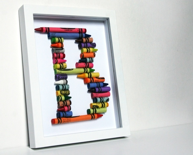 Great idea for teachers or bedrooms: Crayons Crafts, Teacher Gifts, Crayons Letters, For Kids, Broken Crayons, Alphabet Letters, Crayons Art, Crayons Alphabet, Kids Rooms