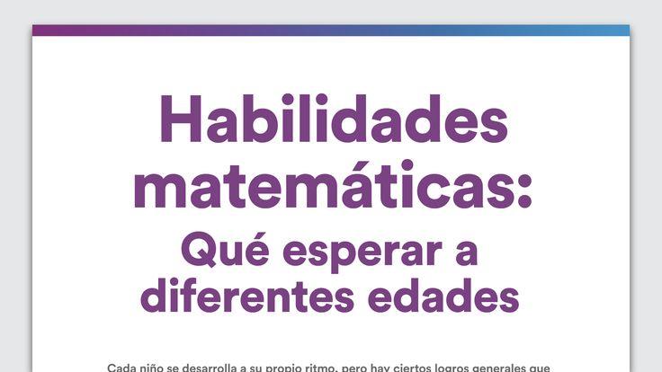 Habilidades matemáticas: qué esperar a diferentes edades
