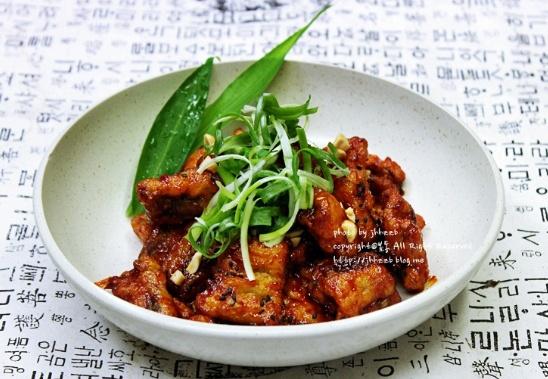 Crispy eel with Sweet & Spicy Sauce(장어강정)