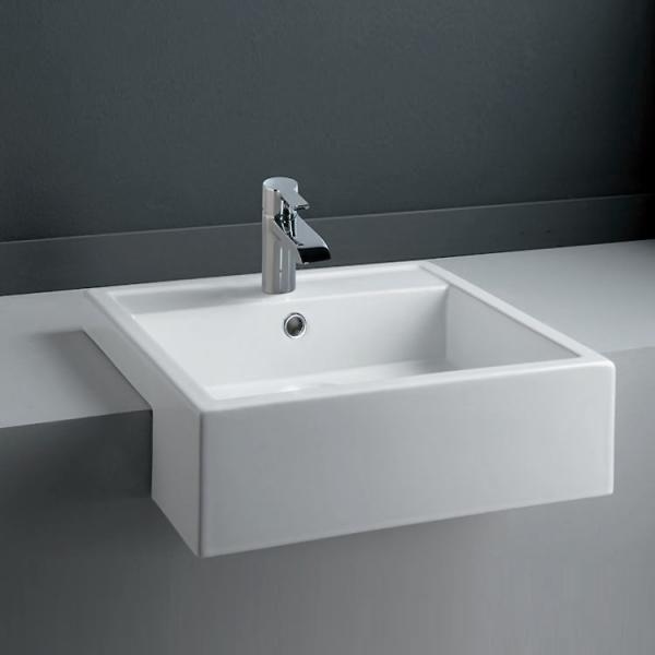 The RAK Nova semi-recessed basin is super sleek and creates a very modern feel.