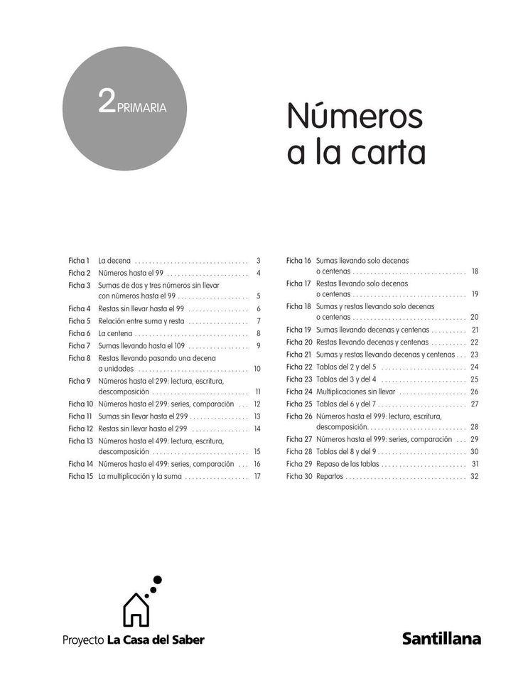#ClippedOnIssuu from Números a la carta 2º de Primaria - Santillana -